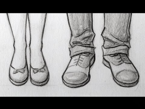 Drawn boots anime guy Female Feet/Shoes: View Male