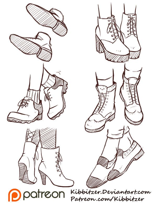 Drawn sneakers reference Body later Pinterest on different