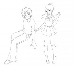 Drawn shoe anime boy This take can like You