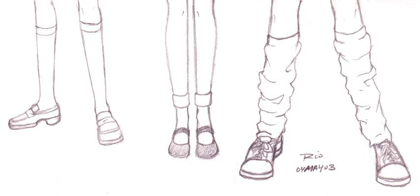 Drawn shoe anime character Shoes Find Sketch of examples