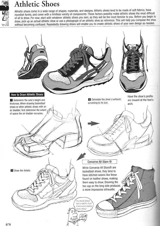 Drawn sneakers reference On Art at How Running