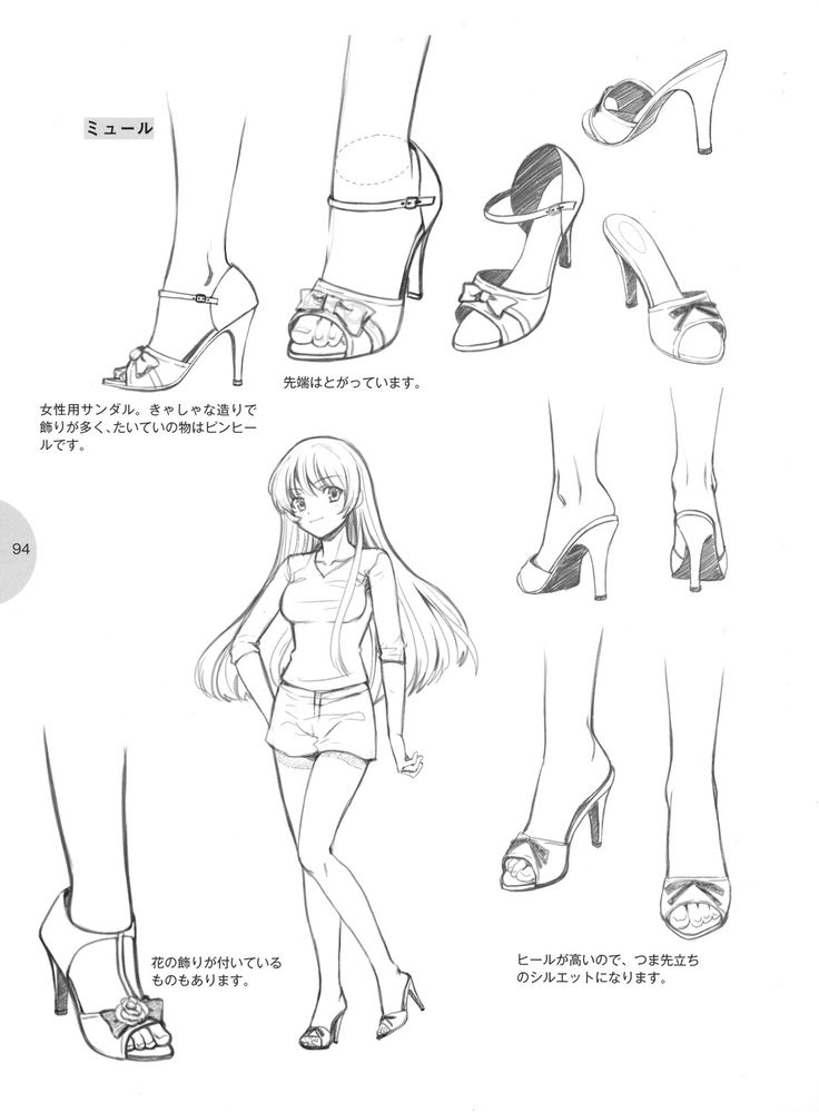 Drawn shoe anime draw From images best and Feet