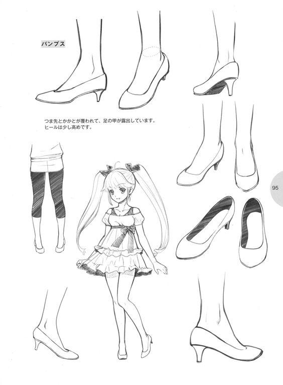Drawn shoe anime draw Jpg (564×765) Art Pinterest Manga