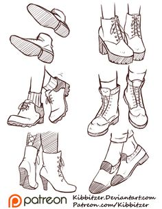 Drawn boots female How Shoes Shoes by Draw