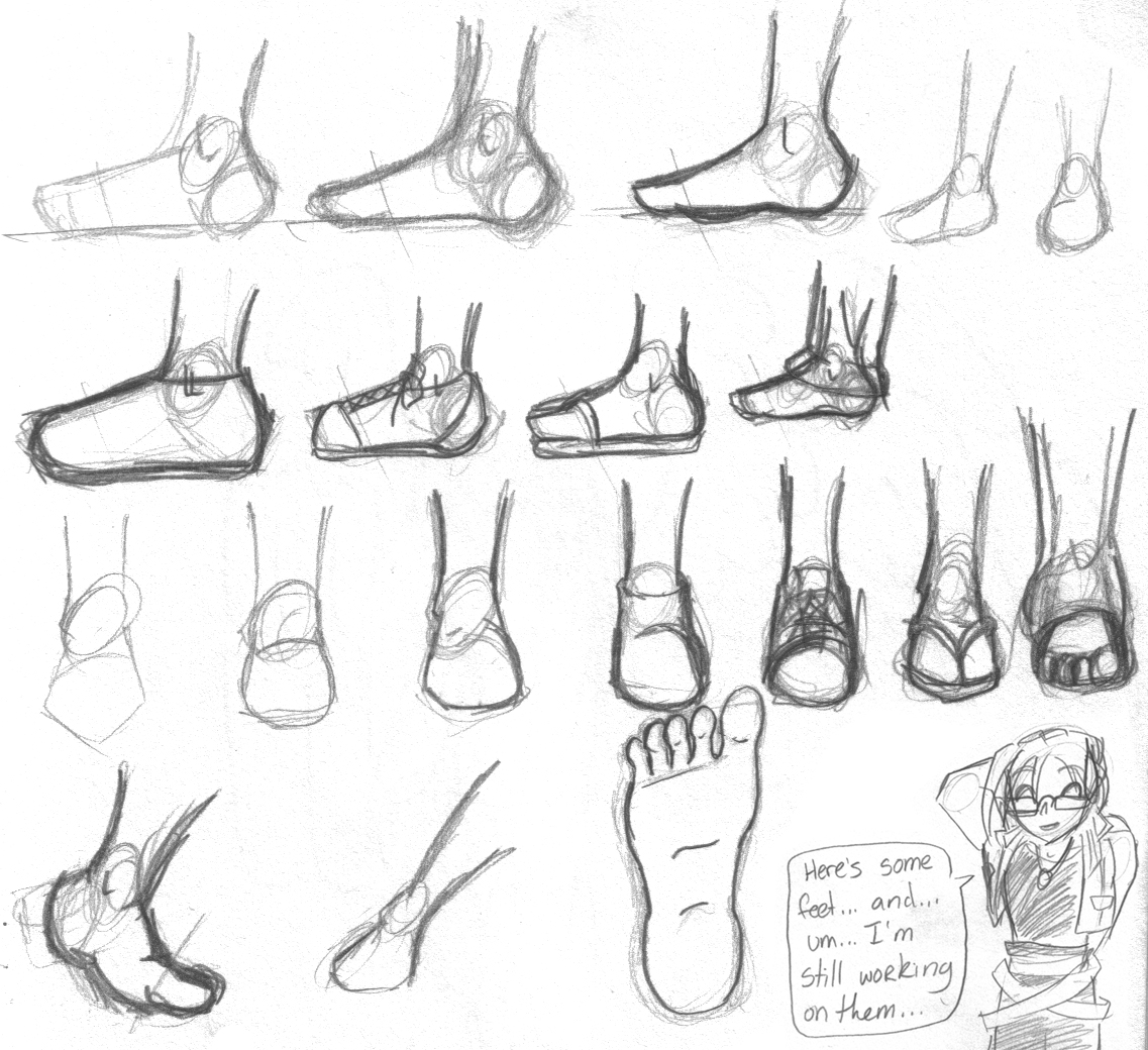 Drawn shoe anime guy To  Feet Draw Collection