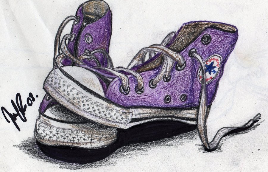 Drawn shoe art Converse Edit by Sarahh94 shoes