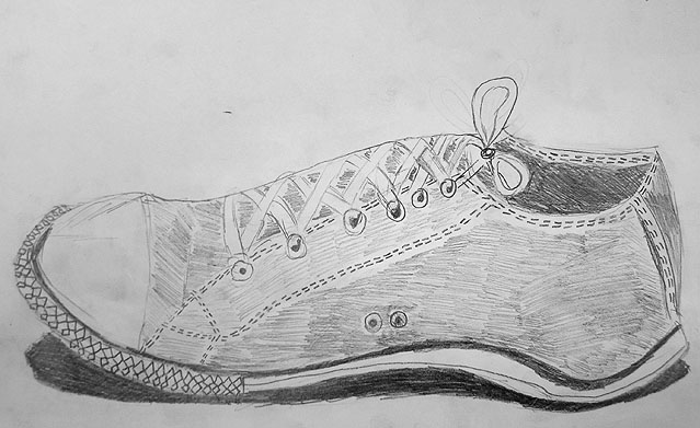 Drawn shoe art Room: Prior different teaching making