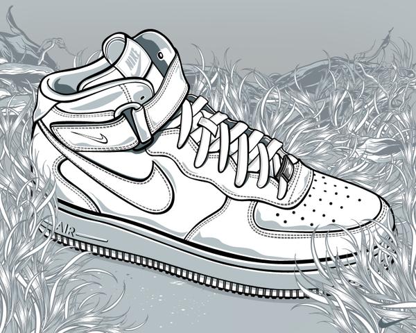 Drawn shoe art Aseo illustration Vincent shoes The