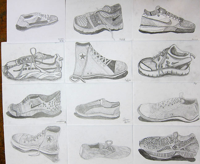 Drawn shoe artwork To from Mr Bob's are