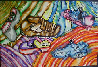 Drawn shoe artwork The Everywhere! design for Shoe