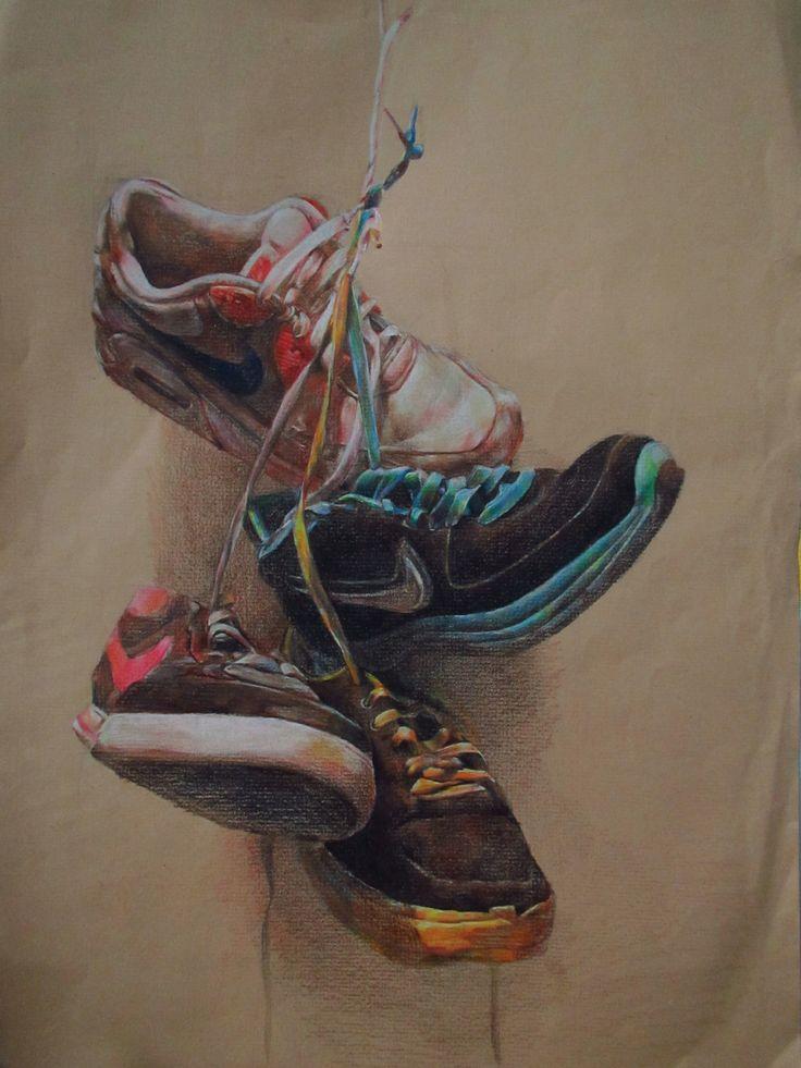 Drawn shoe artwork Footwear best DrawingObservational Shoe 25+