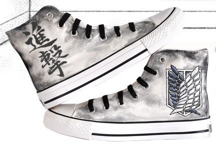 Drawn shoe attack on titan  converse anime converse on