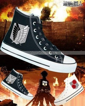 Drawn shoe attack on titan Shoes Shoes Shoes on Custom
