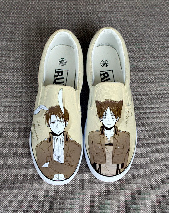 Drawn shoe attack on titan Shoes titan shoes on Attack