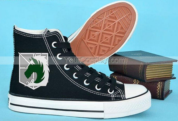 Drawn shoe attack on titan Converse Attack Shoes hand on