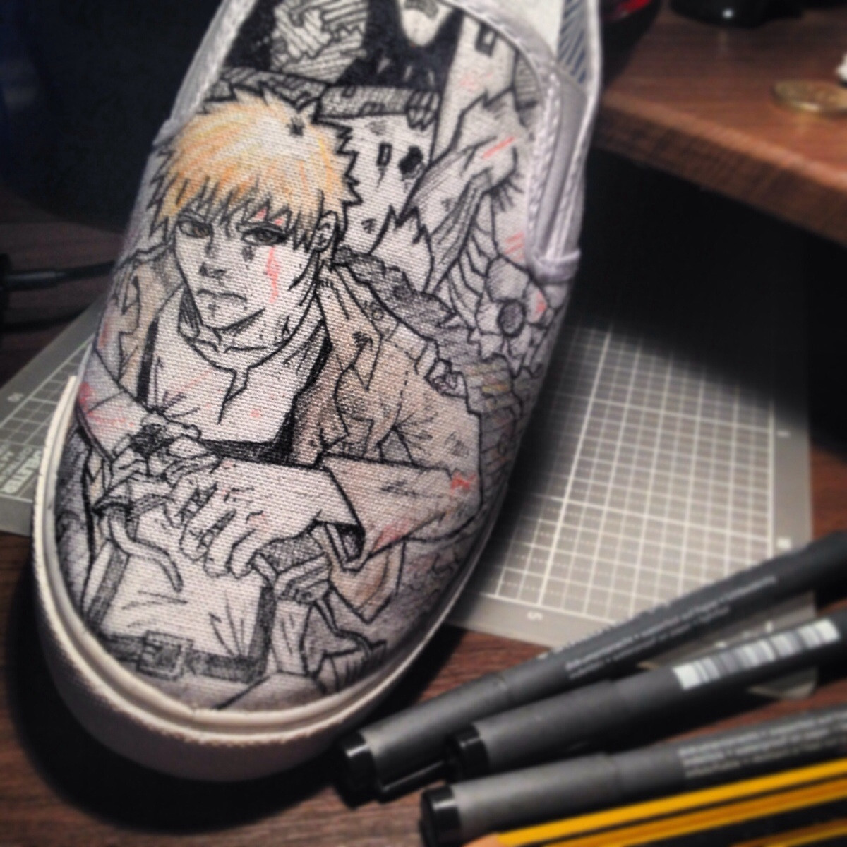 Drawn shoe attack on titan Shoe OlearyBen on x overview