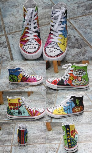 Drawn shoe awesome #greenday • BAD shoes The