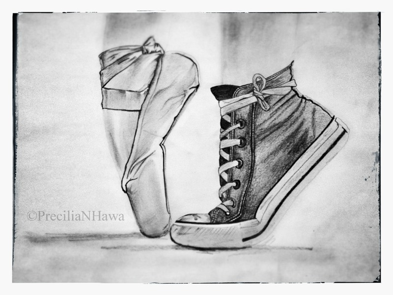 Drawn shoe awesome Ballet on DrawingPen ~PreciliaNHawa Be