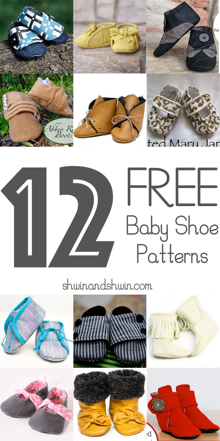 Drawn shoe baby dress And Free Baby DIY Fabric