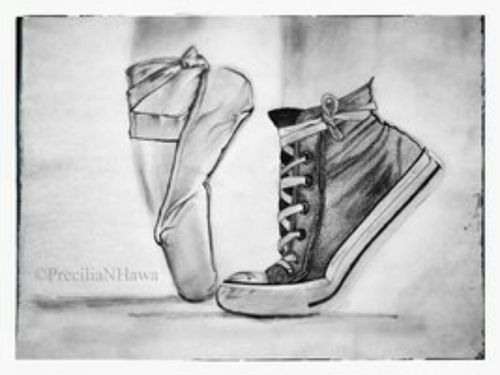 Drawn converse ballet … Best Ballet shoes Pinterest