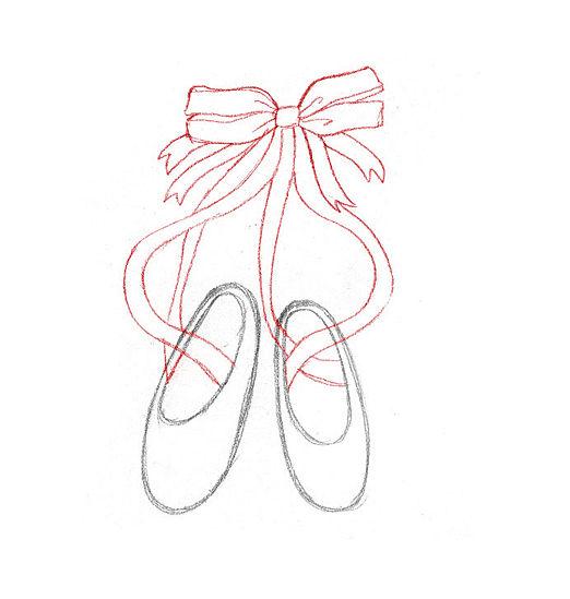 Drawn shoe ballet slipper 2  to Cartoon Art