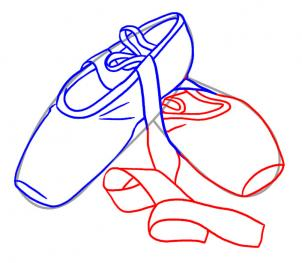 Drawn shoe ballet slipper Tidbits: Art/Drawing/Painting How to Draw
