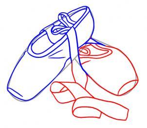 Drawn shoe ballet slipper How Ballet & Ballet Tips