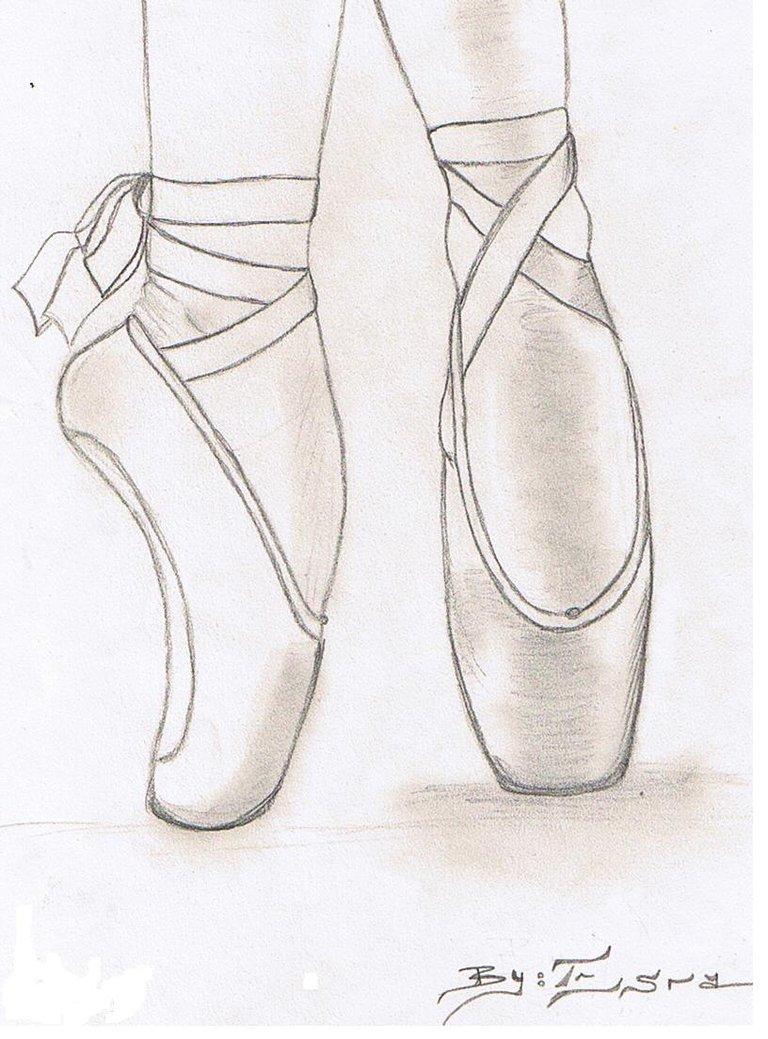 Drawn ballerina ballet slipper Shoe Drawings how Google how