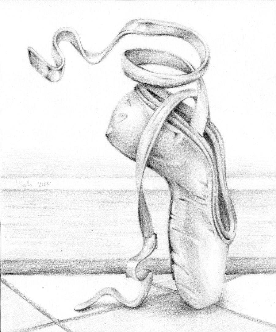 Drawn shoe ballet slipper Shoe shoe  com @DeviantArt