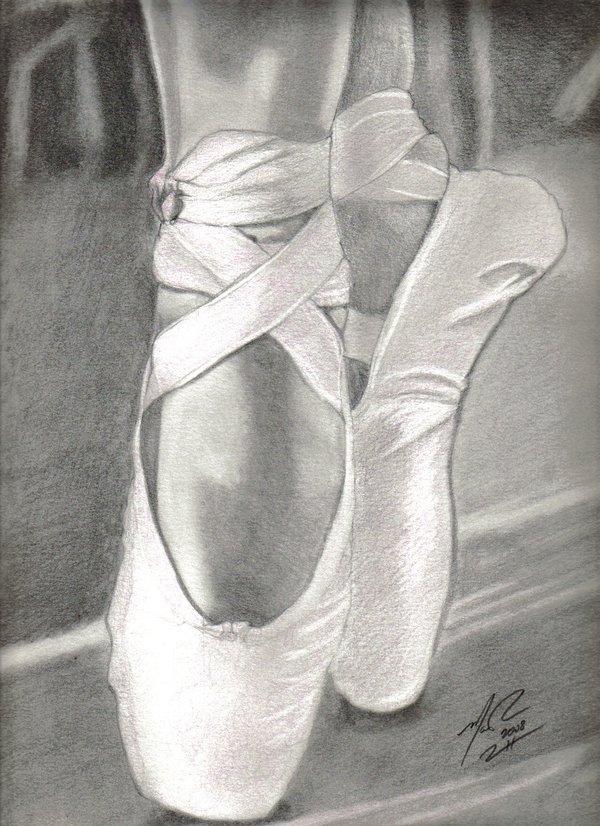 Drawn shoe ballet slipper Ballet mattyrich on Slippers mattyrich