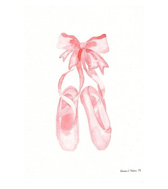 Drawn shoe ballet slipper Original  Pink Room Shoes