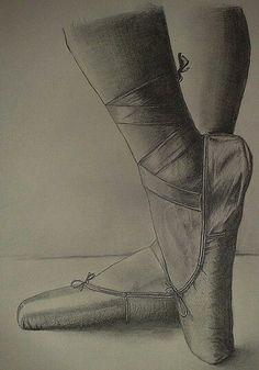 Drawn ballerina ballet slipper #8