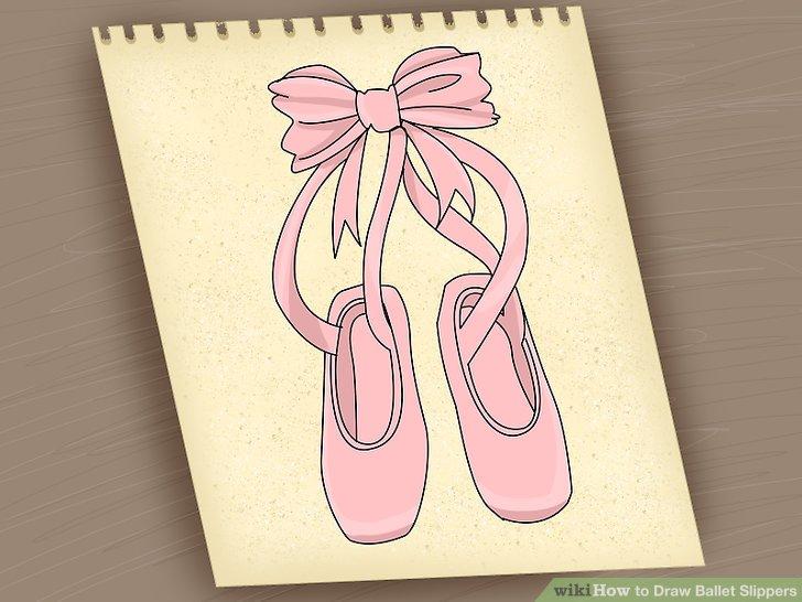 Drawn ballerina ballet slipper Slippers Image (with Easy Ways