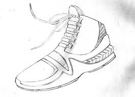 Drawn shoe basketball shoe Love draw pencil's  basketball