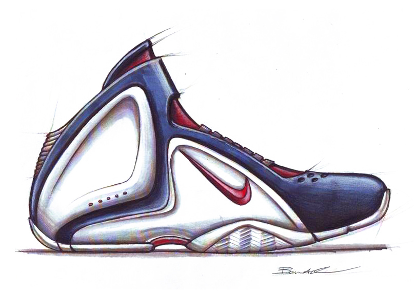 Drawn shoe basketball shoe For Sketch Footwear com shoe
