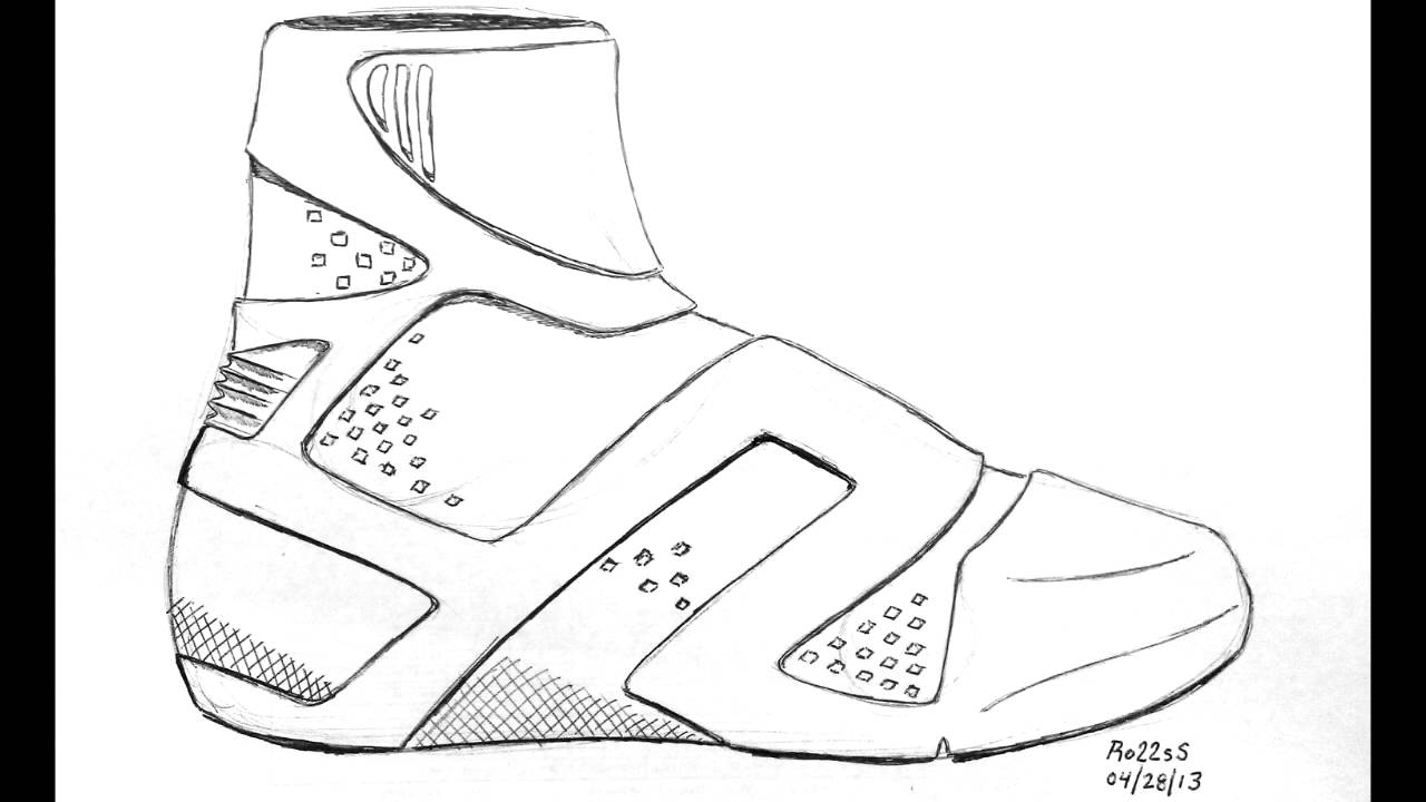 Drawn shoe basketball shoe Zoom 30 Jordan Lebron 30