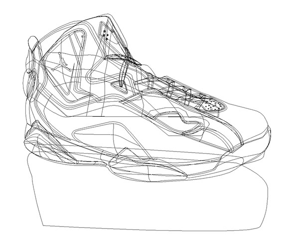 Drawn shoe basketball shoe On Vector Drawing  Illustration
