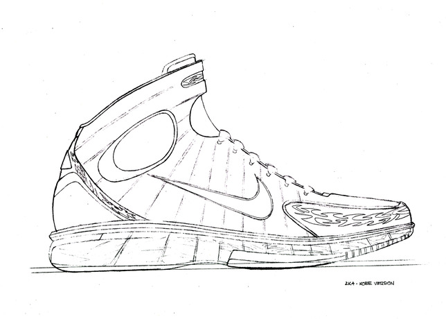 Drawn shoe basketball shoe Nike the Changed  20