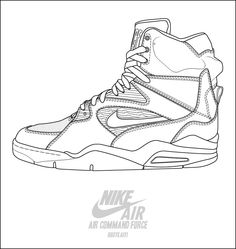 Drawn shoe basketball shoe Coloring basketball How jordan