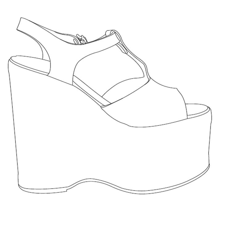 Drawn shoe blank Jpg Drawings Spec images on