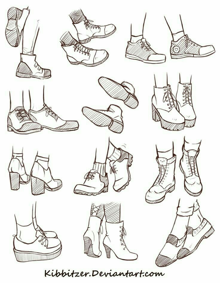 Drawn shoe blank How How 25+ to draw