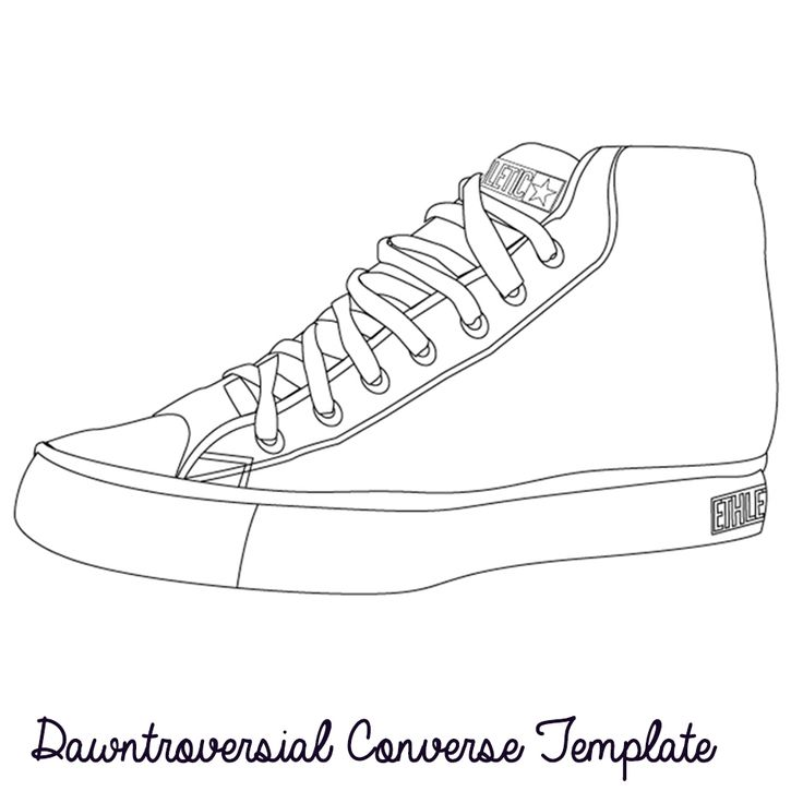 Drawn shoe blank Converse www at dawntroversial converse