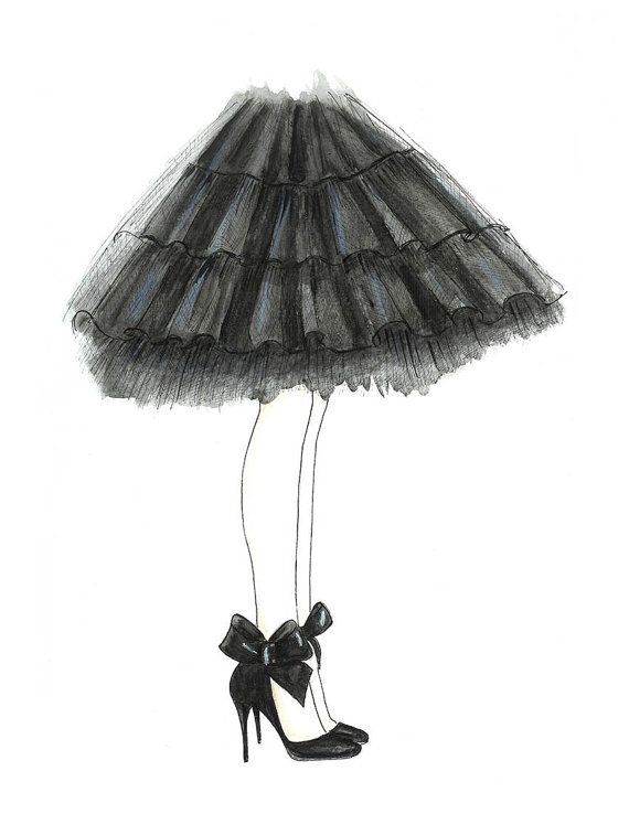 Drawn shoe blank Bedroom Bow Black Fashion and