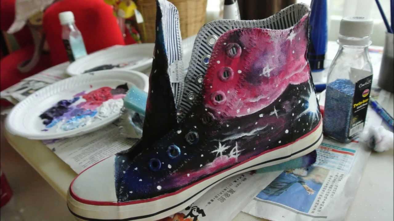 Drawn shoe canvas shoe Canvas Tutorial Tutorial Drawing Galaxy