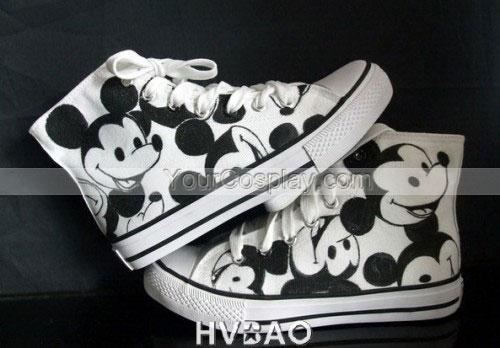 Drawn shoe canvas shoe Canvas Mouse Black High Black