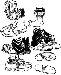 Drawn shoe cartoon  Draw Cartoon Create Feet