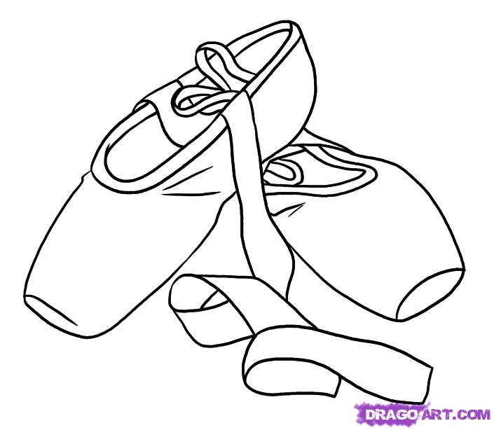 Drawn shoe cartoon Ballet Shoes Draw Step Stuff