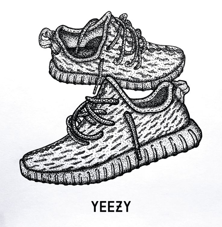 Drawn shoe cartoon Adidas best 350 Boost Yeezy