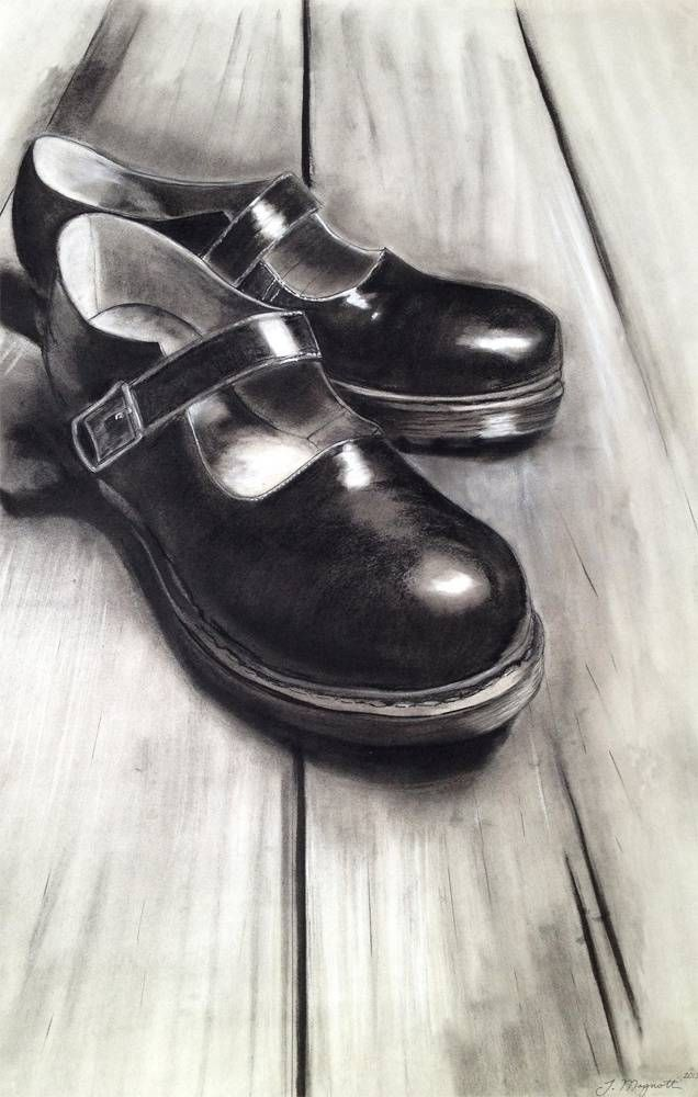 Drawn shoe charcoal Best Pinterest Drawing Magnotti: 80