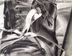 Drawn shoe charcoal On Drawing Charcoal and this